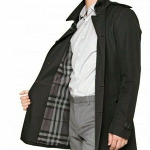 Men's Burberry Black Double Breasted Trench Coat